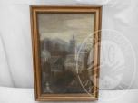 Immagine di Un opera olio su tela raffigurante paesaggio - LOTTO 23