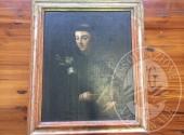 Dipinto con cornice intitolato 'SANT' ANTONIO', misure: 67 x 74 cm
