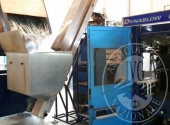 001 MACCHINA SOFFIATRICE MARCA TETRAPACK MOD. DYNABLOW DBX-6 + 002 MACCHINA ETICHETTATRICE AUTOMATICA